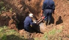 إصلاح الاعطال في أنابيب خط الغاز العربي في خراج المقيطع تلحياة