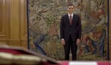 رئيس وزراء إسبانيا أدّى اليمين الدستورية