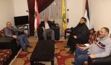 حب الله بحث مع وفد قيادي من عصبة الأنصار الوضع الأمني والاجتماعي في المخيمات الفلسطينية