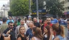 بو عاصي انضم إلى المتظاهرين في ساحة ساسين: نطالب بإجراء إصلاحات بنيوية