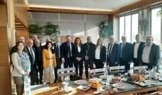 وفد من تجمع صناعيي البقاع يزور المؤسسة العامة لتشجيع الاستثمارات في لبنان
