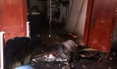 إنفجار قارورة غاز داخل محل لبيع الفلافل بصيدا والأضرار مادية