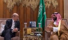 ولي العهد السعودي بحث مع وزير الخارجية الفرنسية بالعلاقات الثنائية والمستجدات الإقليمية والدولية