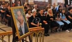 جناز لراحة نفس جورج الريف في الجميزة  في ذكرى مرور سنة على جريمة قتله