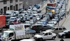 التحكم المروري: حركة مرور كثيفة من جسر الفيات تجاه العدلية