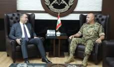 قائد الجيش بحث مع سليمان بالأوضاع العامة والتقى قائد اليونيفيل والملحق العسكري الباكستاني
