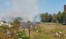 انتهاء عمليات الاطفاء والتبريد في حريق شب في اثارات صور