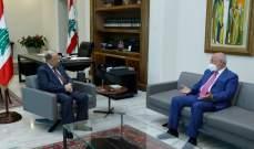 الرئيس عون التقى العريضي موفدا من جنبلاط وعرض معه للأوضاع العامة والتطورات الأخيرة