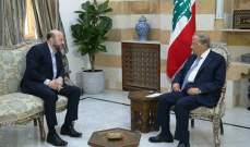 """الرئيس عون التقى الرياشي الذي نقل إليه دعوة من جعجع لحضور قداس بذكرى """"شهداء القوات"""""""