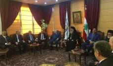 وصول نائب رئيس مجلس الوزراء السابق عصام فارس الى بطريركية البلمند