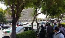تجمع طلابي أمام جامعة طهران تنديدا بالأوضاع الاقتصادية في إيران