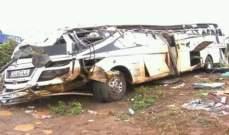 إرتفاع عدد قتلى حادث السير بين حافلة وجرار وشاحنة في أوغندا إلى 48