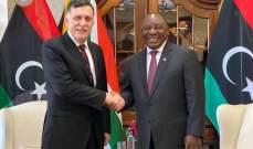 رئيس جنوب أفريقيا: تحقيق السلام بليبيا هو من أولويات مهامي كرئيس للاتحاد الأفريقي