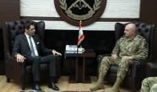 قائد الجيش التقى حنكش وبحث مع سفير بريطانيا بعلاقات التعاون بين جيشي البلدين