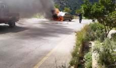 الدفاع المدني: إخماد حريق سيارة في الزرارية- صور والأضرار مادية