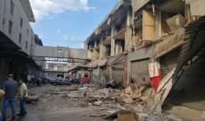 إنهيار حائط خارجي لمبنى في المدينة الصناعية في الغازية والاضرار الجسيمة اقتصرت على الماديات