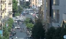 قطع السير داخل شارع ويغان باتجاه وسط بيروت من قبل بعض المحتجين