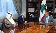 الرئيس عون التقى رئيس جمعية الهلال الأحمر الكويتي