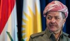 البرزاني يدعو لاستفتاء غير ملزم على استقلال كردستان العراق