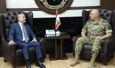 قائد الجيش بحث مع  أبي رميا الأوضاع العامة في البلاد