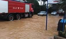 إنقاذ مواطنين احتجزوا داخل سياراتهم في بشمزين