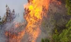 النشرة: الدفاع المدني يعمل على إخماد حريق شب في خراج بلدة القبيات