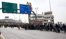 بدء توافد المتظاهرين إلى محيط قصر بعبدا وسط اجراءات امنية مشددة