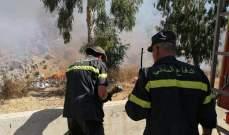 النشرة: الدفاع المدني يعمل على إخماد حريق هشيم في المعصرة بخراج كفرشوبا