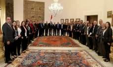 الرئيس عون استقبل وفداً من مصلحة الابحاث العلمية الزراعية بحضور زعيتر