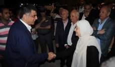 عثمان ومحمد سليمان جالا في صيدا بدعوة من النائب بهية الحريري