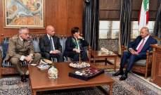 بري التقى وزيرة دفاع ايطاليا وأشاد بدور بلادها الفاعل في اليونيفيل