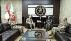 قائد الجيش التقى قائد منظمة فض الاشتباك بالجولان والممثل الخاص لغوتيريس بلبنان