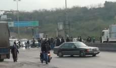 محتجون قطعوا الطريق في المحمرة احتجاجا على توقيف ناشط