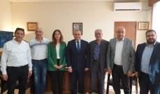 طرابلسي بحث مع هنادي بري في واقع المدارس المهنية الرسمية والخاصة