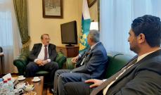 ارسلان بحث مع بوغدانوف بالمستجدات السياسية الإقليمية والمحلية