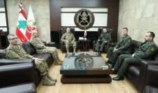 قائد الجيش تداول مع الملحق العسكري الروسي في لبنان بعلاقات التعاون بين جيشي البلدين