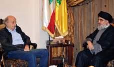الشرق الأوسط: جنبلاط بعث رسالة الى نصرالله حول مخاوفه على مستقبل البلد