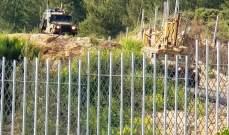 النشرة: قوة إسرائيلية تفقدت الطريق الحدودي ما بين مستعمرتي المنارة والمطلة