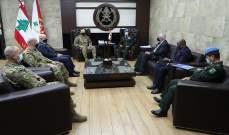قائد الجيش استقبل رئيس البعثة وقائد الأمم المتحدة لمراقبة فض الاشتباك