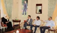 الحريري بحثت مع مستشار المنسق الخاص للأمم المتحدة بأوضاع الفلسطينيين في لبنان