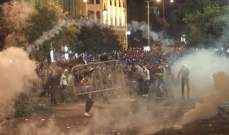القوى الامنية تعتقل عددا من الشبان في وسط بيروت