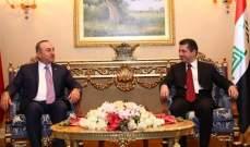 وزير خارجية تركيا التقى البارزاني وأمِل بنجاح الحكومة الجديدة في كردستان