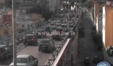 حركة المرور كثيفة على جسر برج حمود باتجاه الاشرفية