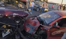 الدفاع المدني: جريحان جراء حادث سير على الأوتوستراد العربي في المرج