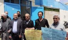 هيئة العمل الفلسطيني المشترك تنظم اعتصاماً بعين الحلوة احتجاجاً على سياسة الاونروا