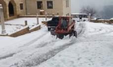 الدفاع المدني: تسهيل حركة المرور على طريق بكاسين- ضهر الرملة- جزين التي غمرتها الثلوج