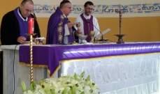 المطران مارون العمار ترأس قداس عيد انتقال العذراء في زغرتا
