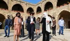 السفيرة الفرنسية زارت صيدا والتقت الحريري في خان الافرنج