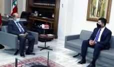 الرئيس عون بحث مع غجر في تدابير مؤسسة الكهرباء لاعادة التيار بعد العاصفة