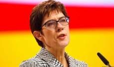 وزيرة الدفاع الألمانية: جاهزية الجيش مضمونة في ظل انتشار فيروس كورونا